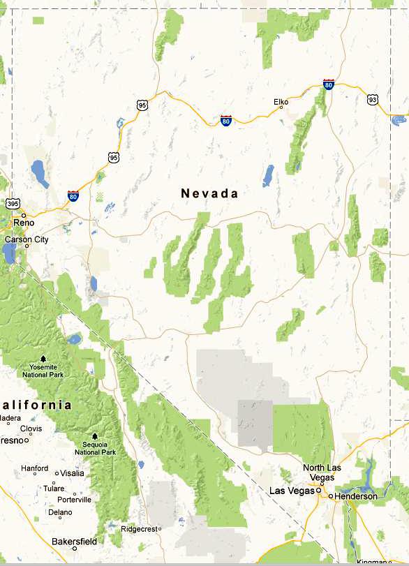Mapa-Nevada