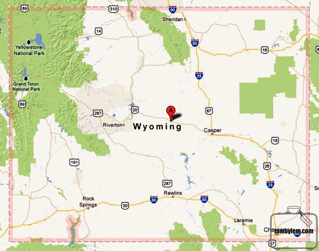 Mapa-Wyoming