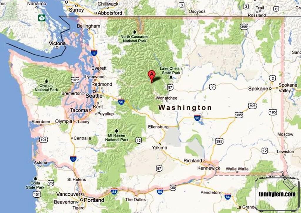 Mapa-Washington